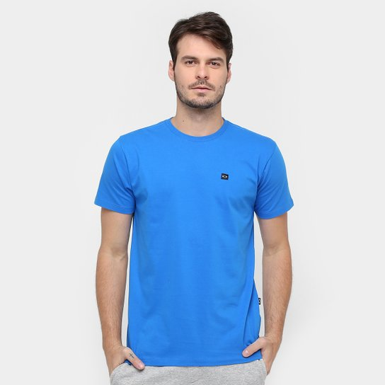 e2d42a2b90df6 Camiseta Oakley Patch Masculina - Azul - Compre Agora