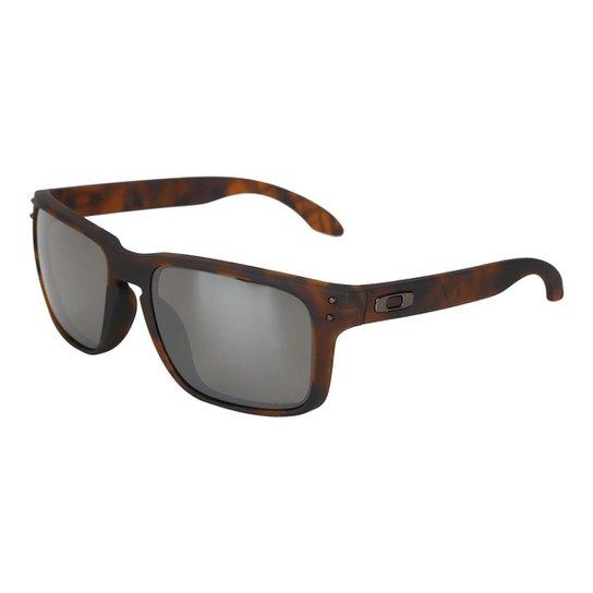 d84d543c8 Óculos de Sol Oakley Holbrook Prizm Tartaruga Masculino - Preto ...