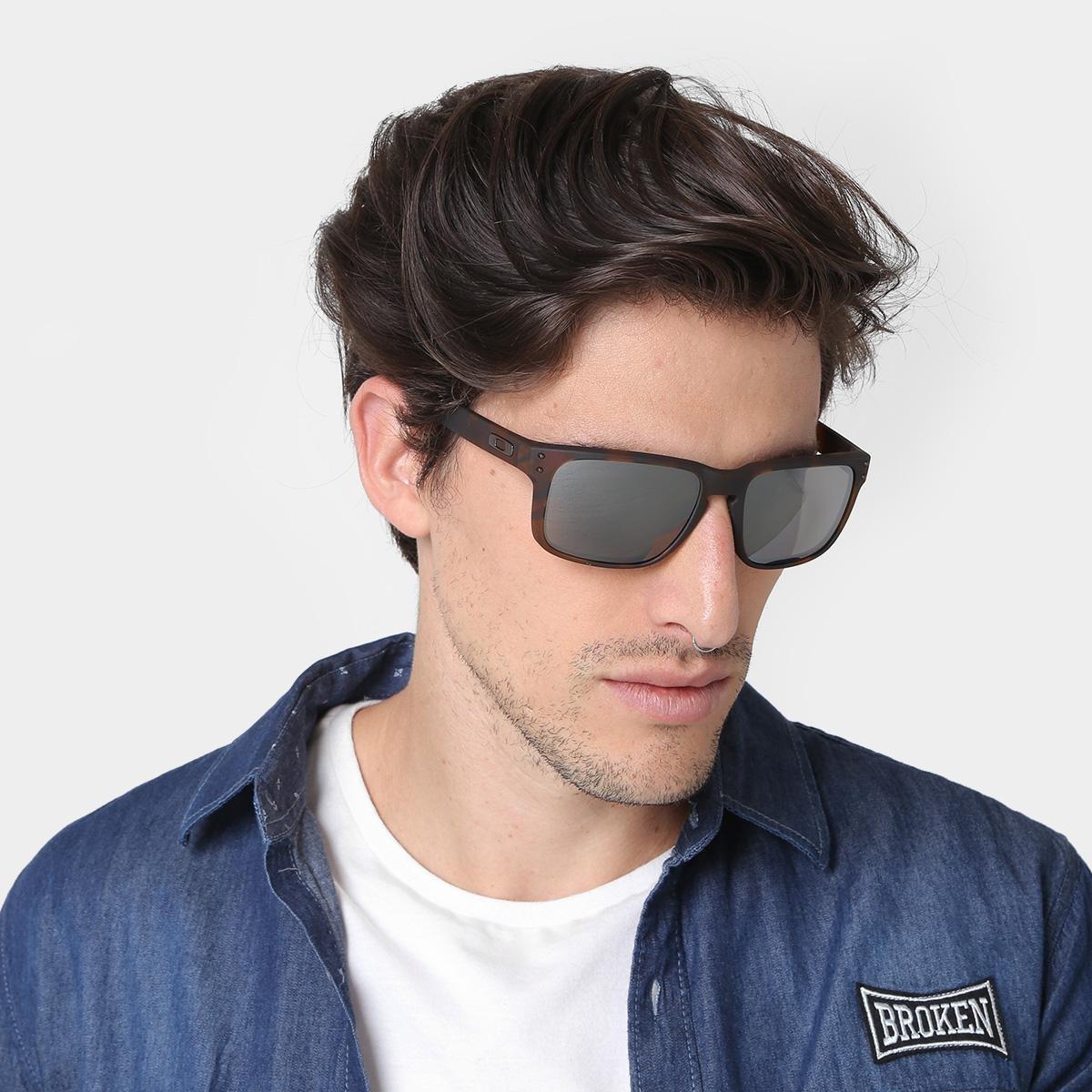 7bcf38f726cba Óculos de Sol Oakley Holbrook Prizm Tartaruga Masculino