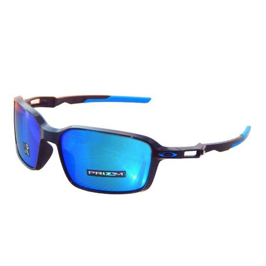 Óculos Oakley Siphon Polished Black  Lente Prizm Sapphire - Azul ... 22b9086cf9