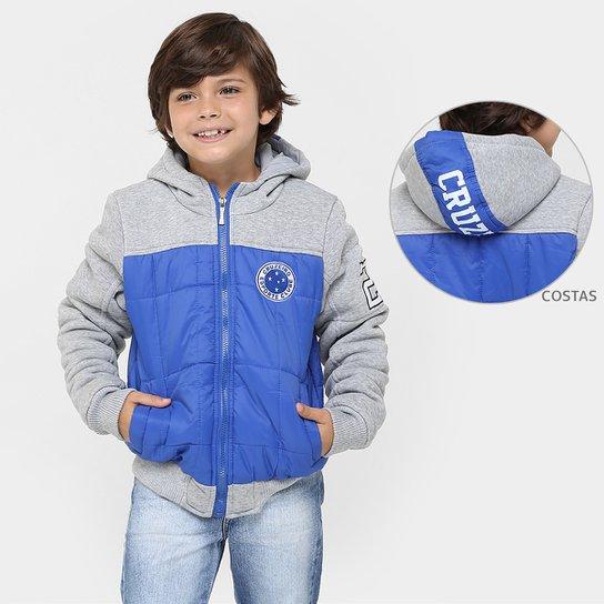 f4e4ea8673 Jaqueta Cruzeiro Baseball c  Capuz Infantil - Compre Agora