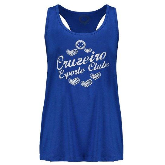fcc3d34012 Regata Cruzeiro Heart Shadow Feminina - Azul