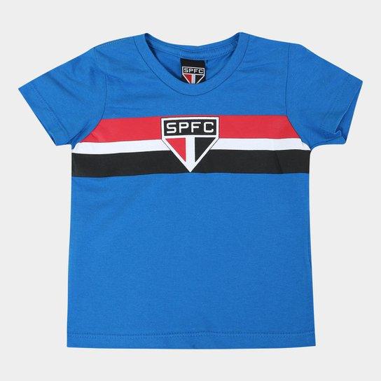 cf355fc3a Camiseta São Paulo Infantil Tradicional - Azul | Netshoes