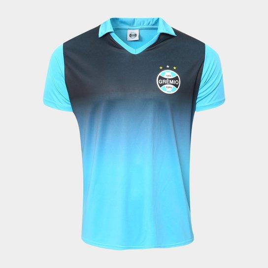 58fb708bd2bd7 Camisa Polo Grêmio Tricolor Masculina - Azul e Preto - Compre Agora ...