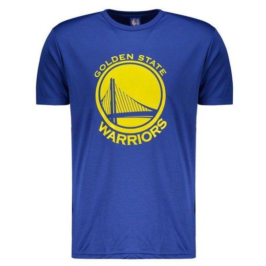 Camiseta NBA Golden State Warriors Royal Masculina - Azul - Compre ... e559b4f4939