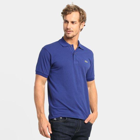6ccd211255cba Camisa Polo Lacoste Original Fit Masculina - Azul - Compre Agora ...