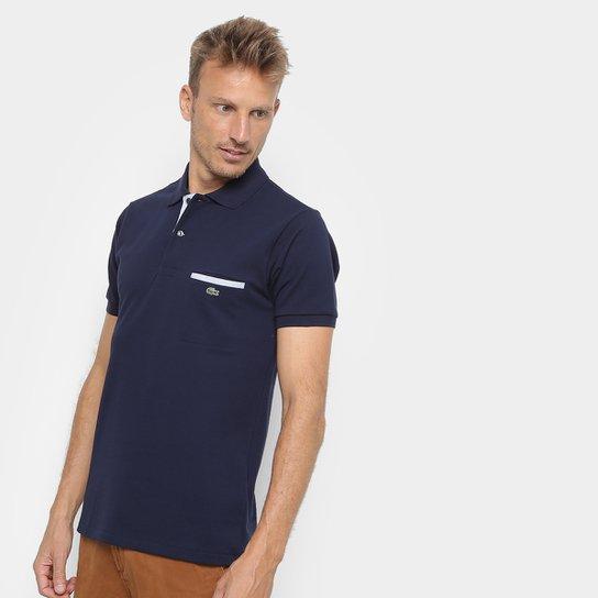 12b0d6ca918c1 Camisa Polo Lacoste Original Fit Bolso - Azul - Compre Agora