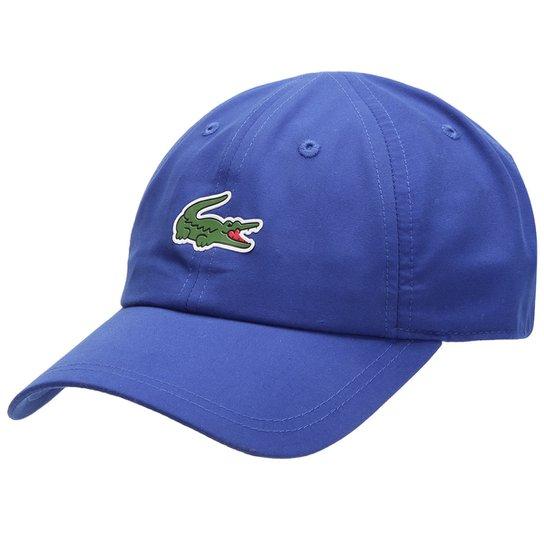 Boné Lacoste Aba Curva Estampa Logo Masculino - Azul - Compre Agora ... c12bc0d904