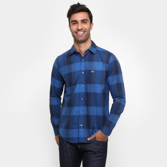 Camisa Lacoste Regular Fit Xadrez Bolso - Compre Agora   Netshoes e983e3b796