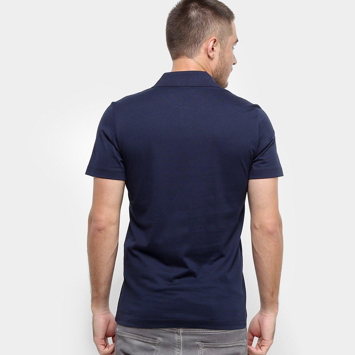 Foto 2 - Camisa Polo Lacoste Malha Original Fit Masculina