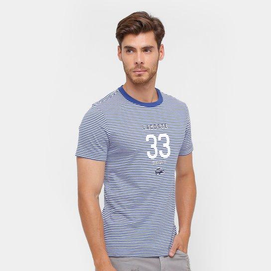 248b187a9b Camiseta Lacoste Slim Fit Listras Masculina - Compre Agora
