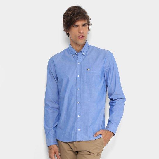 4a3e82aed8 Camisa Lacoste Regular Fit Bolso Masculina - Compre Agora