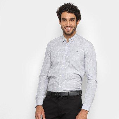 Camisa Lacoste Manga Longa Mini Print Masculina
