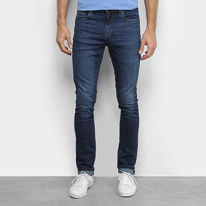 Calça Jeans Slim Lacoste Estonada Masculina