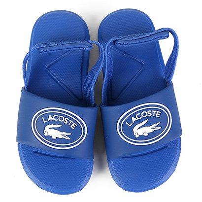 Chinelo Slide Infantil Lacoste Sportswear Tira Masculino