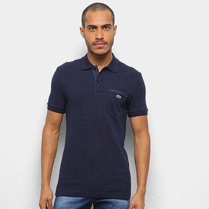 Camisa Polo Lacoste Bolso Lateral Masculina