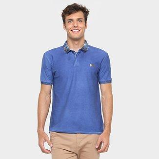 Camisa Polo Calvin Klein Piquet Gola Estampada f365357428eeb