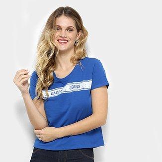 Camisetas Calvin Klein Femininas   Netshoes 9b4a45b495