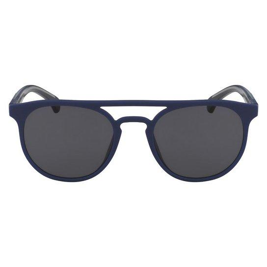 65db55ea23f60 Óculos de Sol Calvin Klein Jeans CKJ822S 405 51 - Azul - Compre ...