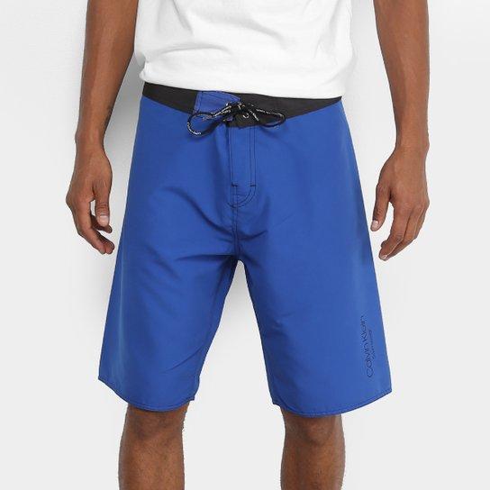 Bermuda D Água Calvin Klein Básica Masculina - Azul - Compre Agora ... ecf1e97bc6