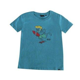 d13faf2e77b9e Camiseta Juvenil Silk Surfs Up Hurley