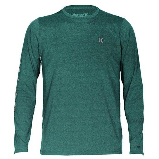 Camiseta Lycra Surf Hurley Manga Longa Strong - Azul - Compre Agora ... 76cfd078011ad