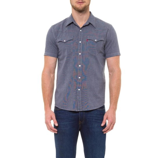32c206780940d Camisa Sunset Classic Western Levis - Compre Agora