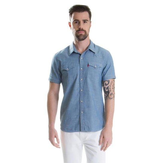 Camisa Levis Classic Wetern - Azul - Compre Agora  b1e8bf2b037