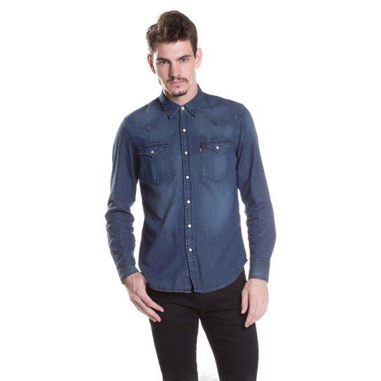 Camisa Levis Classic Western - Azul - Compre Agora  a1b644ba75f
