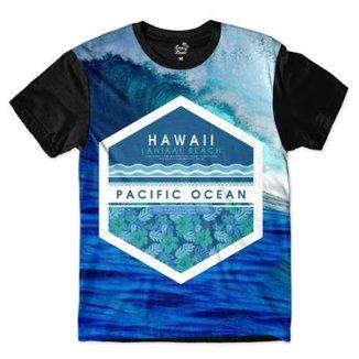 4a08959271ff7 Camiseta Long Beach Hawaii Onda Sublimada Masculina