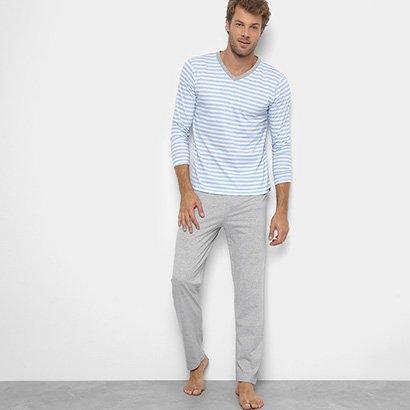 Pijama Lupo Longo Listrado Masculino