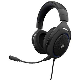 Headset Gamer Hs50 Azul P2 Stereo Corsair.