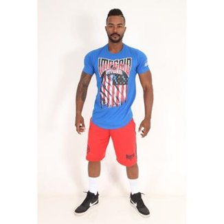 53378fcd75 Camiseta Long U.S.A. Flag Masculina