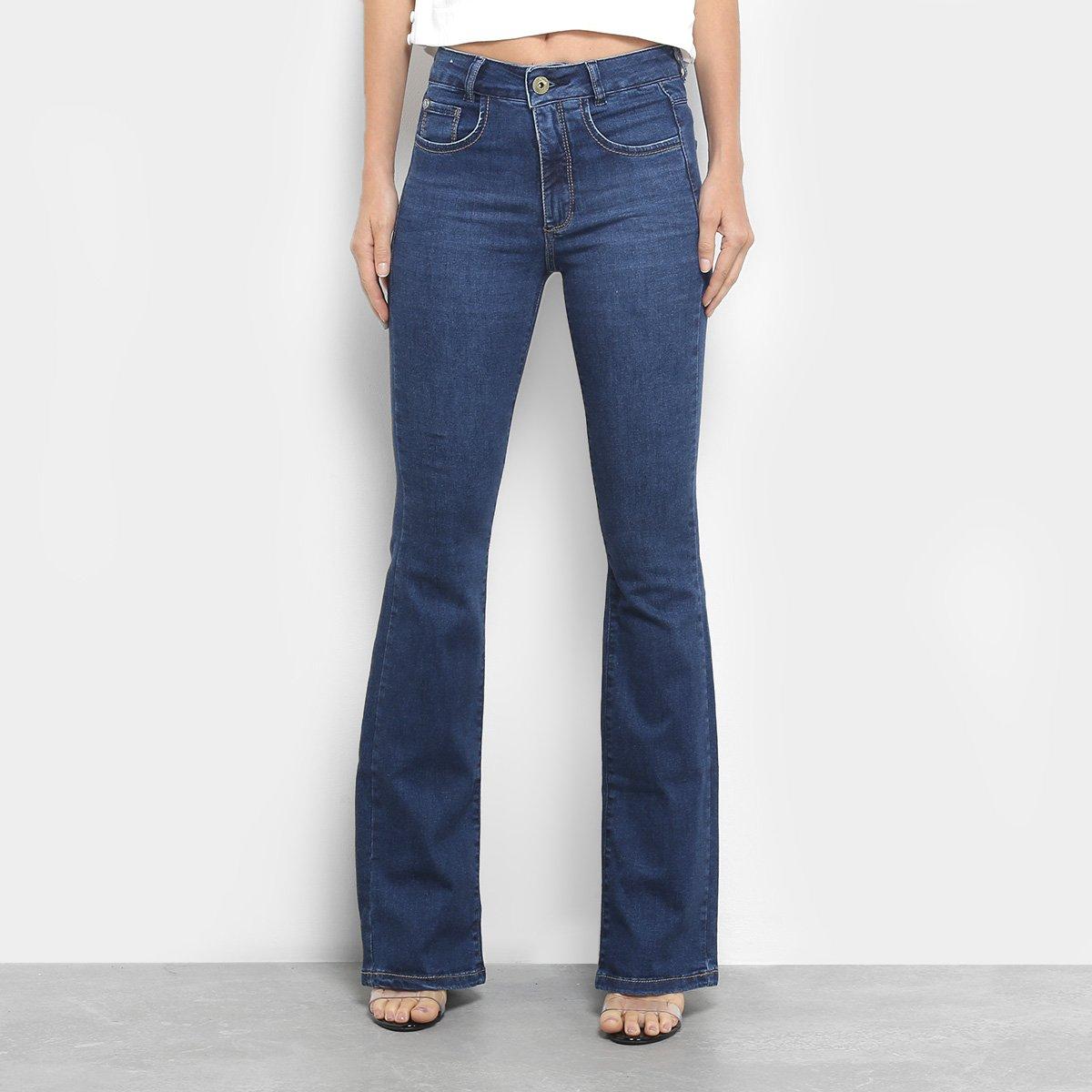 1a9854606 Calça Jeans Flare Maria Filó Cintura Média Feminina