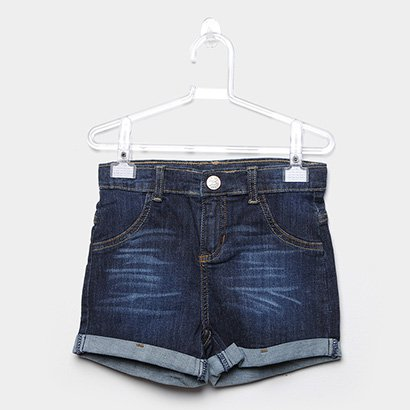 Shorts Jeans Infantil Up Baby Feminino