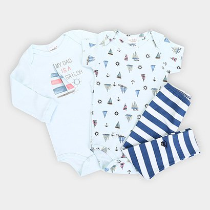 Kit Body Infantil Up Baby Estampado