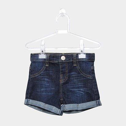 Short Jeans Infantil Up Baby Barra Dobrada Feminino