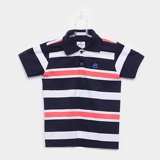 4f301184ccd Camisa Polo Infantil Up Baby Malha Listrada Masculina