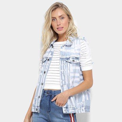 Colete Jeans Triton Estampado Feminino