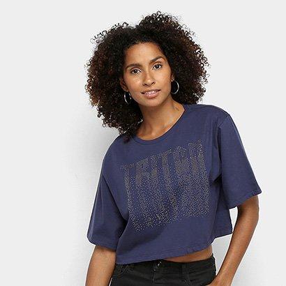 Camiseta Triton Estampada Cropped Feminina