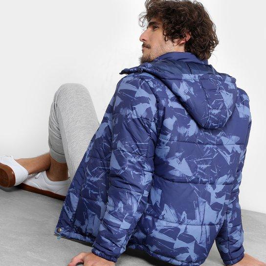 Jaqueta Mood Estampada Capuz Masculina - Azul - Compre Agora  a16d1634c7041