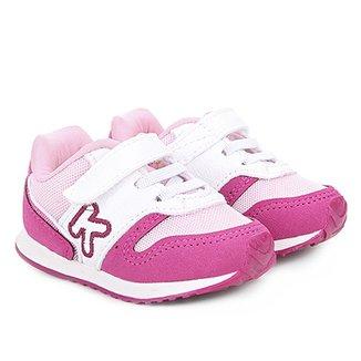 1ed12061abe Tênis Infantil Klin Velcro Mini Walk Menina