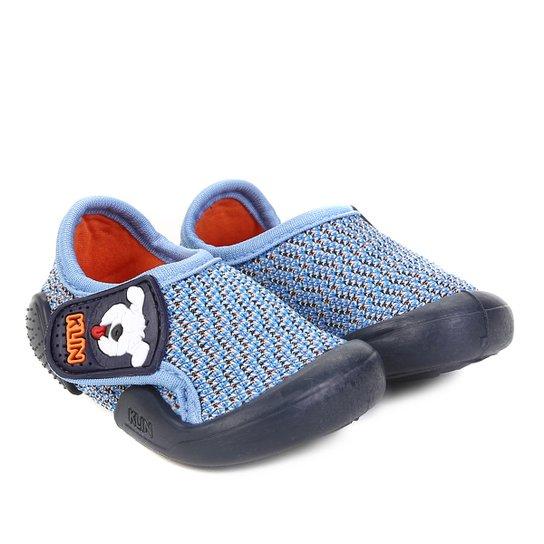 f78f62ca32 Sapato Infantil Klin Velcro New Confort - Azul
