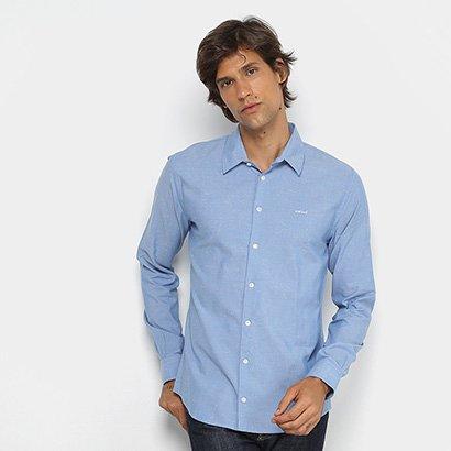Camisa Colcci Manga Longa Slim Mesclada Masculina