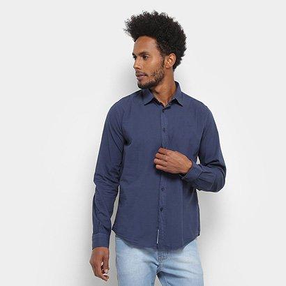 Camisa Manga Longa Colcci Básica Algodão Masculina