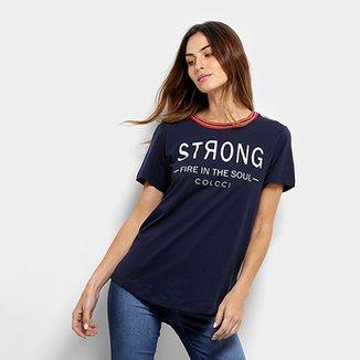 97de4cc9f Camiseta Colcci Estampada Feminina