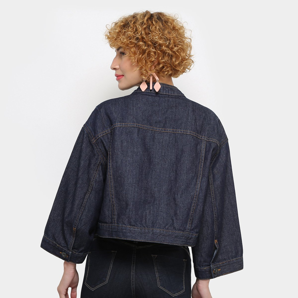 Jaqueta Jeans Colcci Cropped Feminina - Tam: P - 1