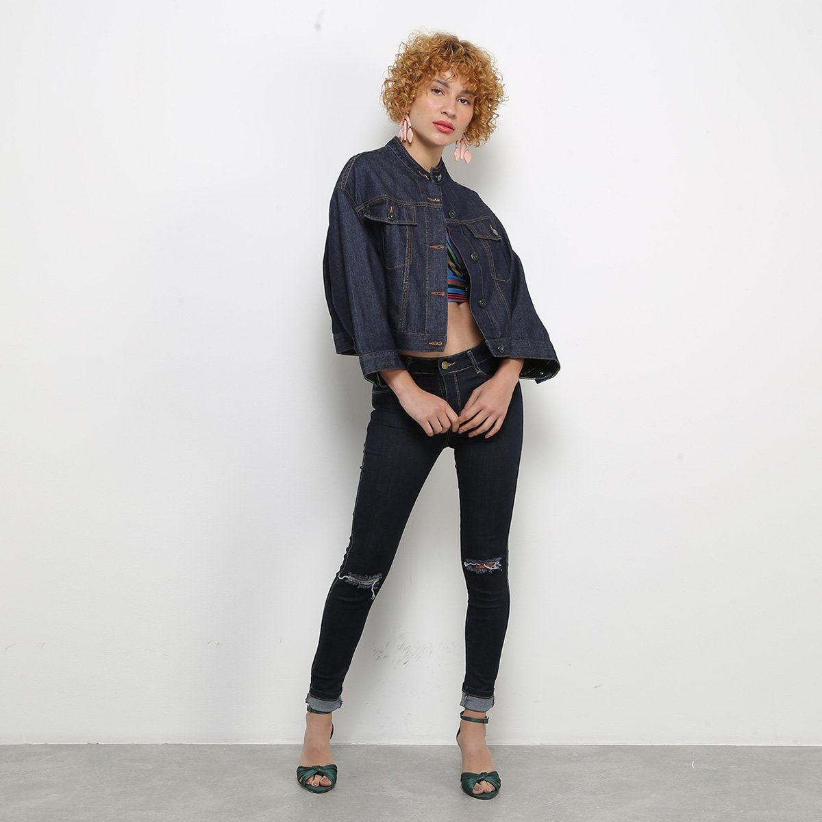 Jaqueta Jeans Colcci Cropped Feminina - Tam: P - 2