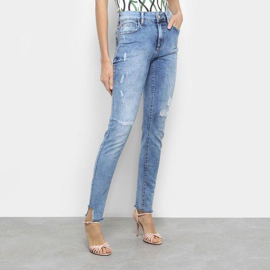 Calça Jeans Skinny Fórum Marisa Cintura Média Feminina - Azul ... 343f2742be1