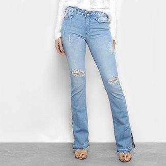 Calça Jeans Flare Forum Estonada Cintura Média Feminina d8c8d609400